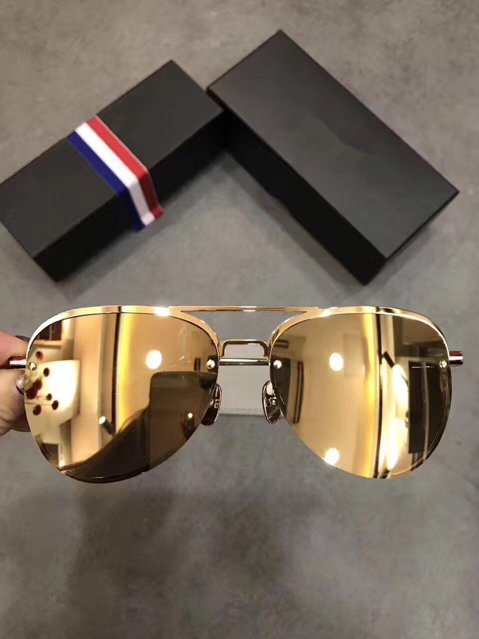 Vintage Oculos Steampunk Sunglasses TB112 Men Women Metal Eyeglasses Brand Designer Sun Glasses Mirror Coating Glasses
