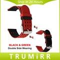 Pulseira de Borracha De silicone Dupla Face Vestindo Cinta 21mm 22mm 23mm 24mm Universal Cinto de Faixa de Relógio de Pulso pulseira Azul Preto Vermelho