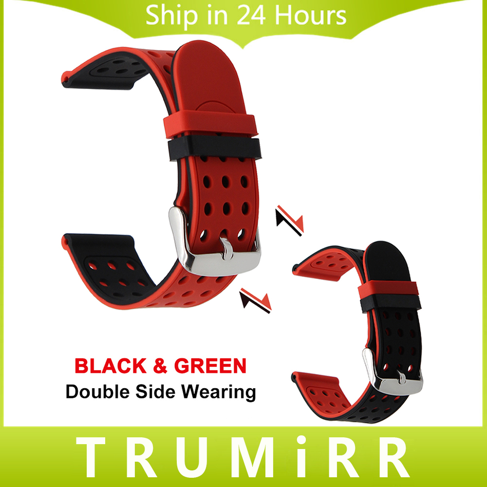Silicone Rubber Watchband Double Side Wearing Strap 21mm 22mm 23mm 24mm Universal Watch Band Wrist Belt Bracelet Black Blue Red silicone rubber watch band 17mm 18mm 19mm 20mm 21mm 22mm 23mm 24mm universal watchband strap wrist belt bracelet