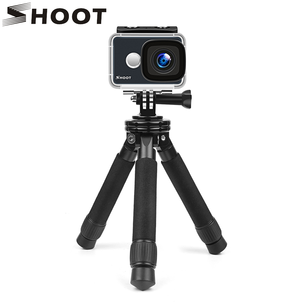 SHOOT Lightweight Mini Portable Stable Tabletop Desktop Tripod for Gopro Canon Nikon Sony Action Camera With Phone Clip Adapter