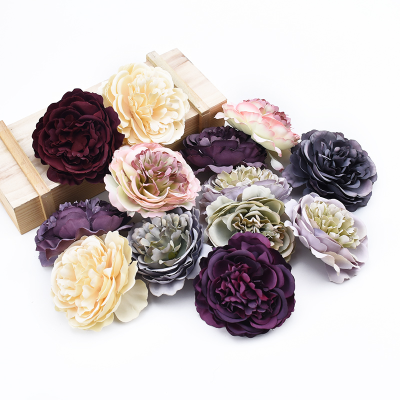 5PCS High Quality Retro Silk Peony Flower Wall Wedding Bridal Accessories Clearance Diy Giftx Party Home Decor Artificial Flower