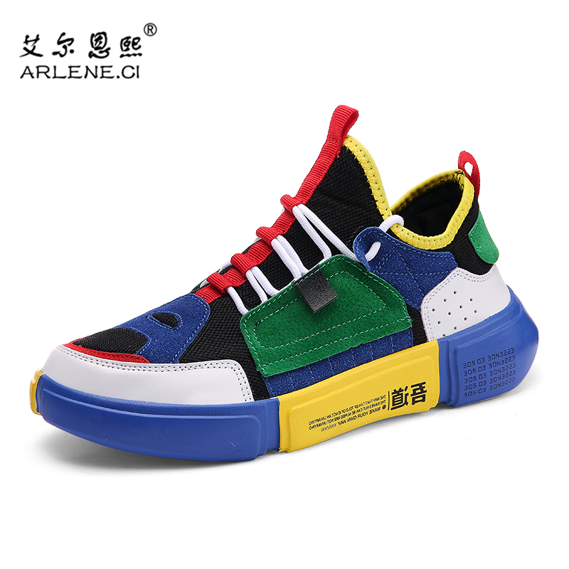 2019 Brand New Arrival Running Shoes Men Spring Trainers Sneakers Zapatos Hombre Comfortable Brand Designers Gym Sport Shoes Man