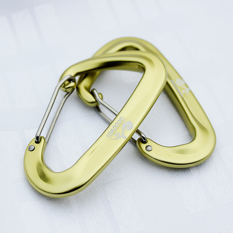 2 PCS Hammock Straps Carabiner 7075 Aluminum Alloy Strong Ultralight Hammock Safety Buckle For Hanging Load 1200 KGS Each