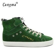 9ff0e9ca964 CANGMA Italië Luxe Designer Man Laarzen Winter Schoenen Handgemaakte  Mannelijke Lederen Sneakers Mannen Groene Koe Suede