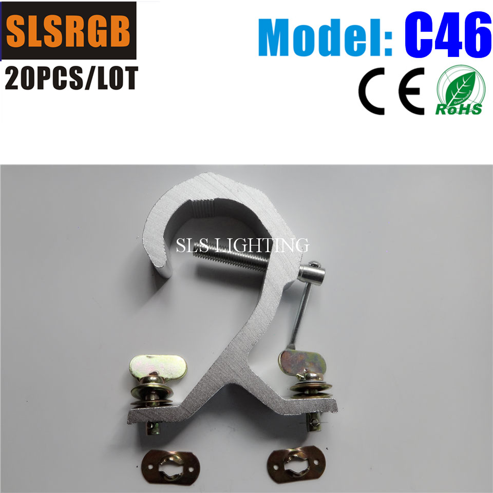 20PCS/LOT On Sale Aluminum Truss Clamps,cast Aluminum Pipe Clamp Truss Clamp / Stage Lighting Hook/ Stage Light Pipe Clamp