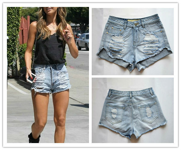 2014 Vintage women ripped distressed Slasher Flick Cutoff shorts ...