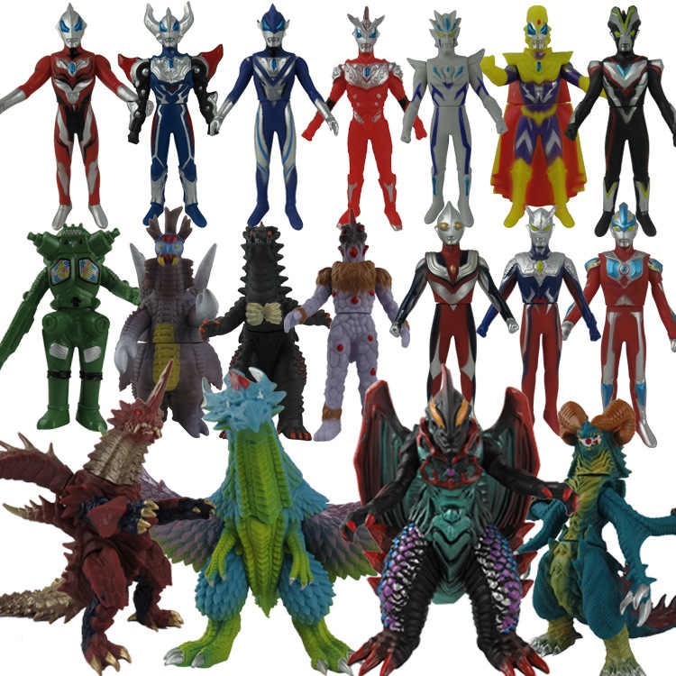 13-19cm de borracha macia ultraman monstro mapa de ação modelo do imperador jedesero cinco imperador magma-seijin etc ultraman