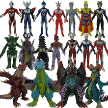 13-19cm soft rubber ultraman monster action map model of the emperor jedesero five Magma-seijin etc Ultraman