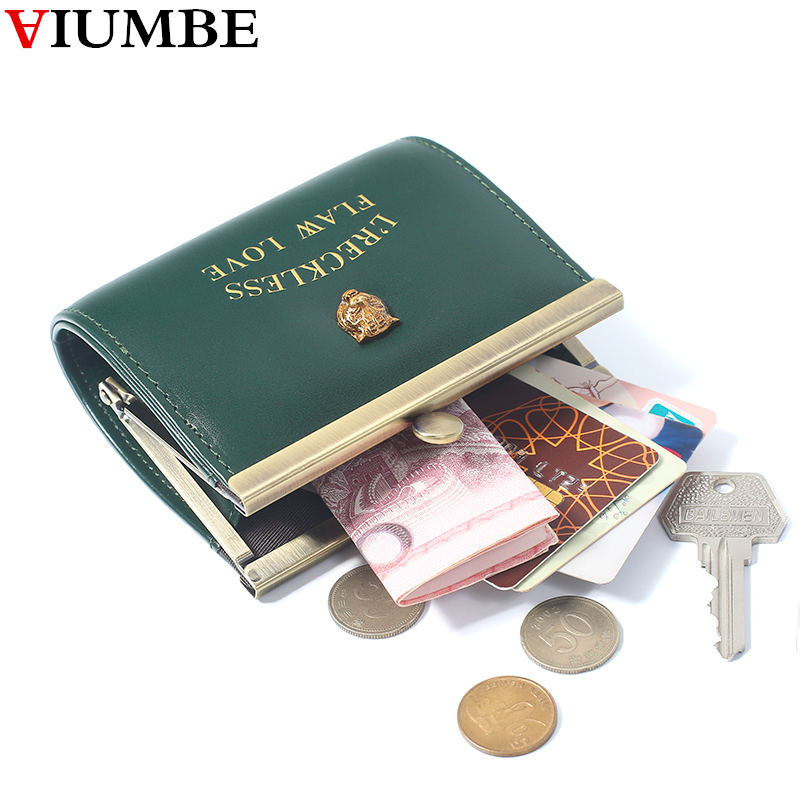 7177946554 New Casual Vintage Metal Hasp Coin Purse Small Leather Bag For Women Change  Purses Card Holder Money Bags Mini Retro Wallet Lady-in Coin Purses from  Luggage ...
