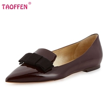 Fashion Women Shoes Woman Flats high quality Casual Comfortable pointed toe Bowknot Women Flat Shoe New Flats Size 35-46 B245