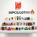 36pcs/lot New Minecraft More Characters Hanger Creeper Action Figure Toys Cute 3D Minecraft Models Games Collection Toys #F