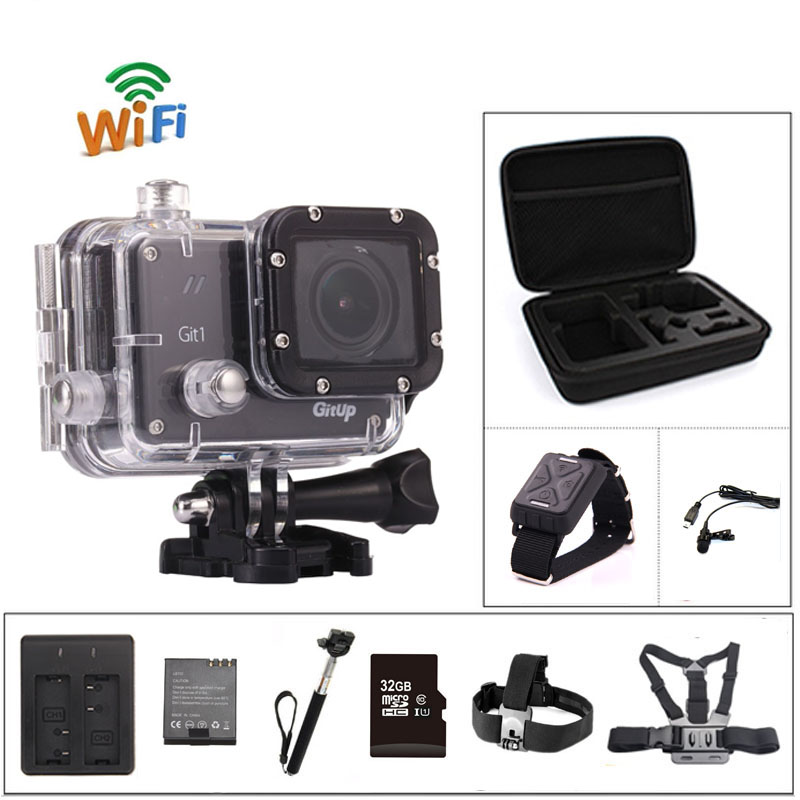 Action camera deportiva Original GitUp Git1 Novatek remote 1.5 inch LCD Screen WiFi 1080P 60fps sport go waterproof pro camera