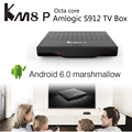 MECOOL KM8 P Caixa de TV Android 6.0 Amlogic Marshmallow S912 64bit Octa núcleo smart tv box wifi hdmi 4 k box tv android pk a95x mi caixa