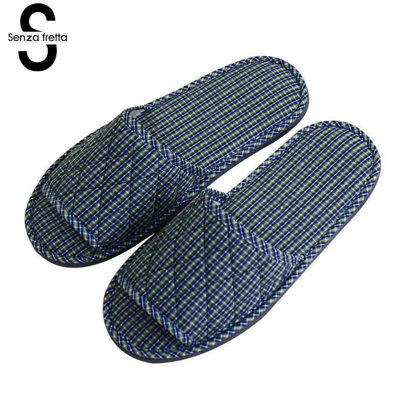 Senza Fretta Shoes Woman Indoor Guests Hotel Non-disposable  Slippers Soft Bottom Non-slip Home Slipper Pantufa Feminina 27-29cmSenza Fretta Shoes Woman Indoor Guests Hotel Non-disposable  Slippers Soft Bottom Non-slip Home Slipper Pantufa Feminina 27-29cm