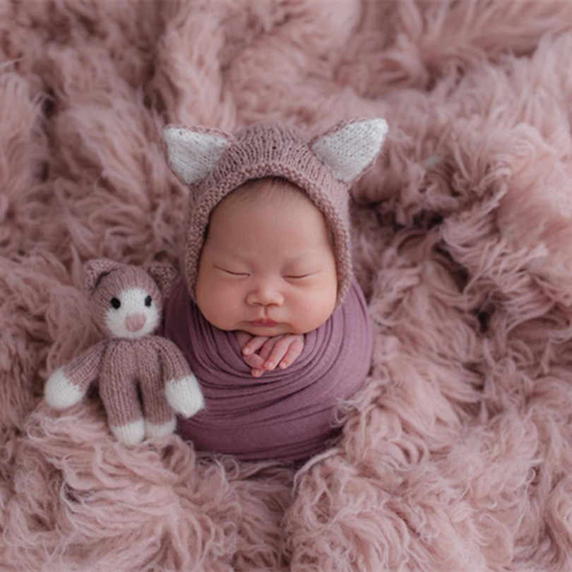 Light Pink Greece Wool Flokati Natural Chunky Curly Wool Blanket Newborn Posing Backdrop Fabric Vintage Baby Girl Fur Props