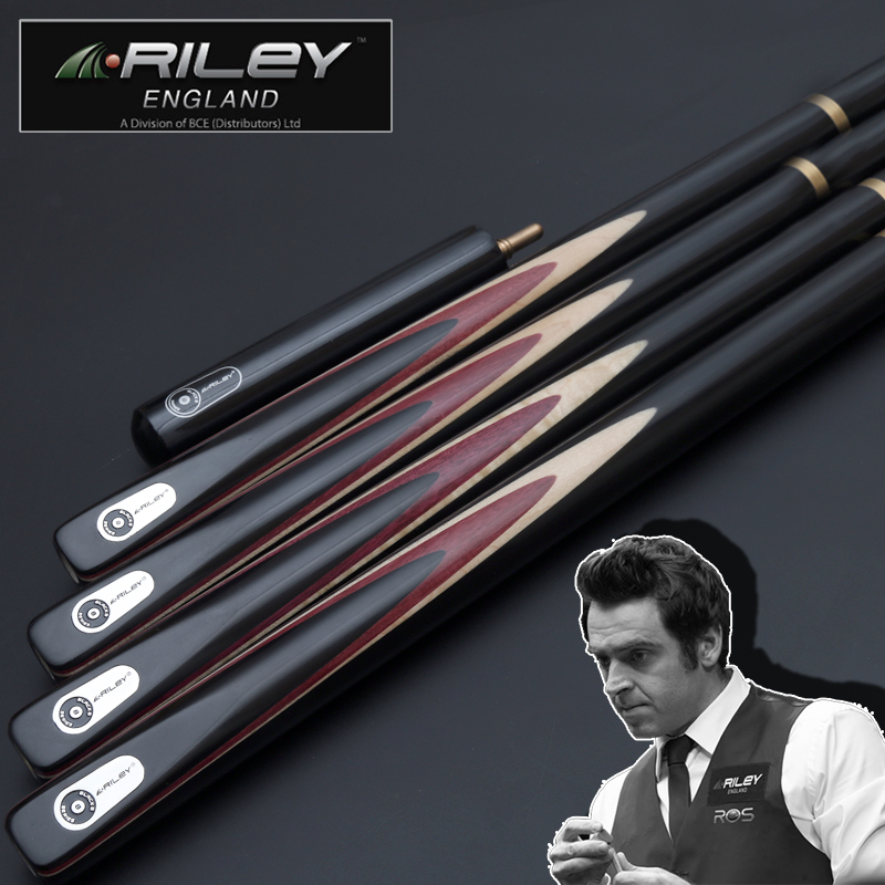 Original RILEY High-end Excellent Handmade 3/4 Piece Snooker Cue Kit With Good Case With Extension 9.8mm Billiard Snooker Stick
