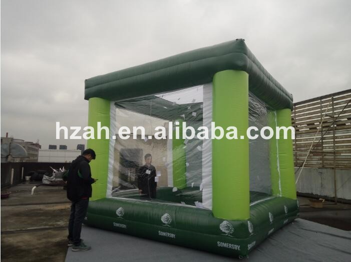 Large Inflatable Cash Money Booth for Advertising david booth display advertising an hour a day