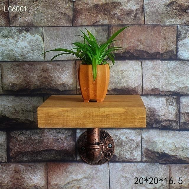 Home Wood Wall Storage Rack Bracket Hanging Flower Pot Holder Modern Wooden Living