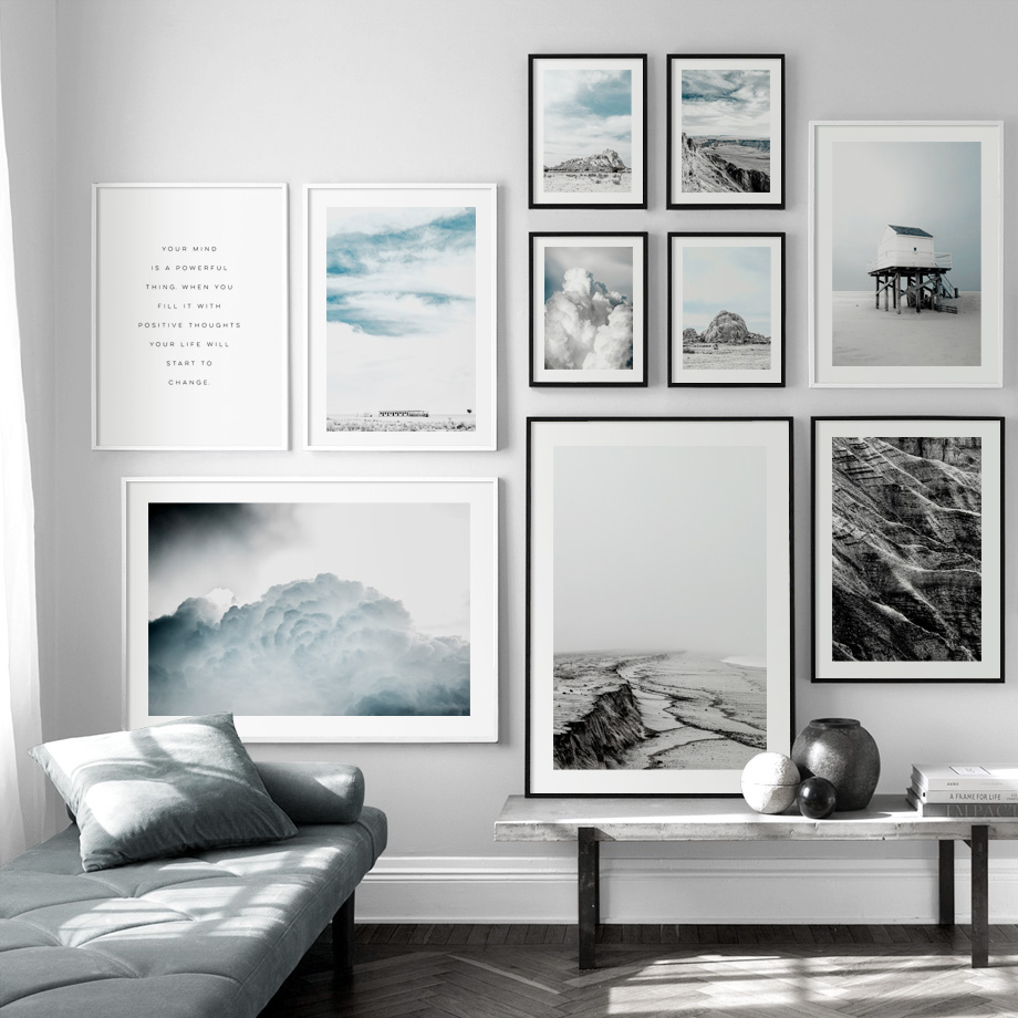 Gobi Desert Beach Clouds Wall Art Canvas Painting Nordic Posters And Prints Nature Landscape Wall Pictures For Living Room Decor in Painting Calligraphy from Home Garden