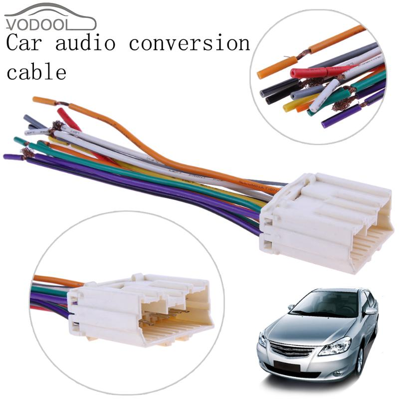 US $1.51 30% OFF|Car Stereo CD Player Wiring Harness Radio Wire Plug on