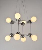 Nordic Modern Chandelier Light Magic Bean Bronze Chandelier Creative Living Room Bedroom Villa Chandelier Lighting Included