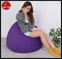 Leisure Sofa Chair Bed Living Room Furniture Removable Creative Bean Bag Lazy Sofa 100*100cm Styrofoam particles