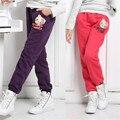 2015 nueva ropa de los niños niñas otoño e invierno más el terciopelo grueso hijos pantalones ocasionales de los deportes de los niños