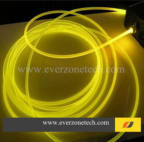 3mm Solid Core Side Glow Fiber Optic Lighting Cable for Indoor Application