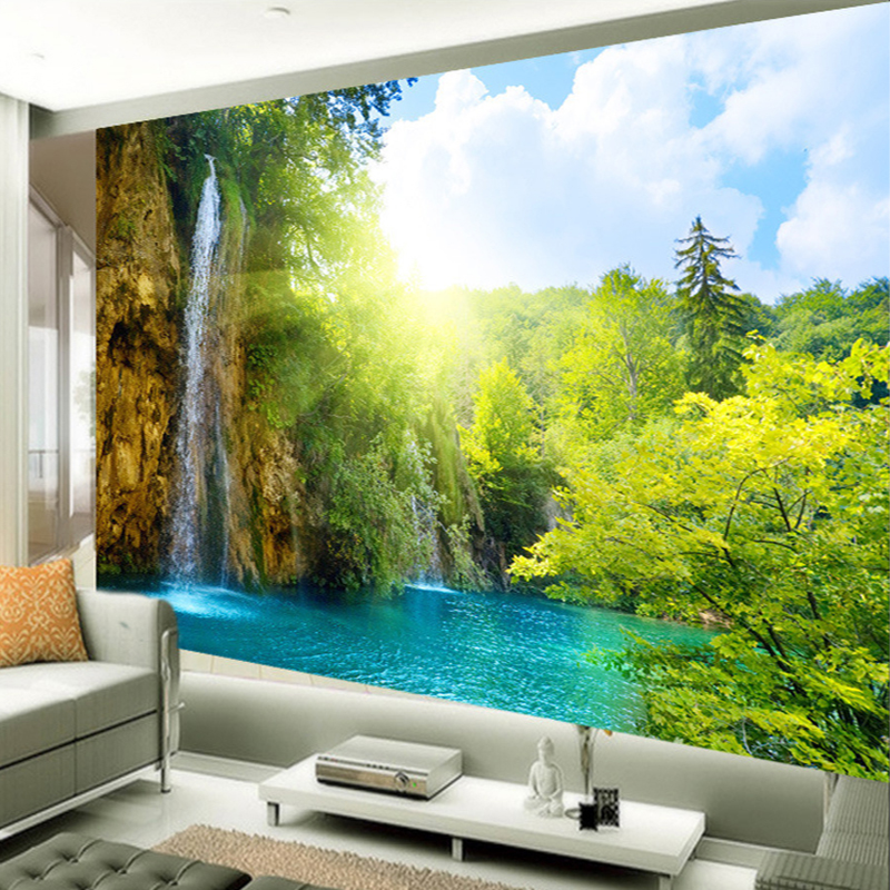 Chinese Style Photo Wallpaper Mountain And Water Scenery
