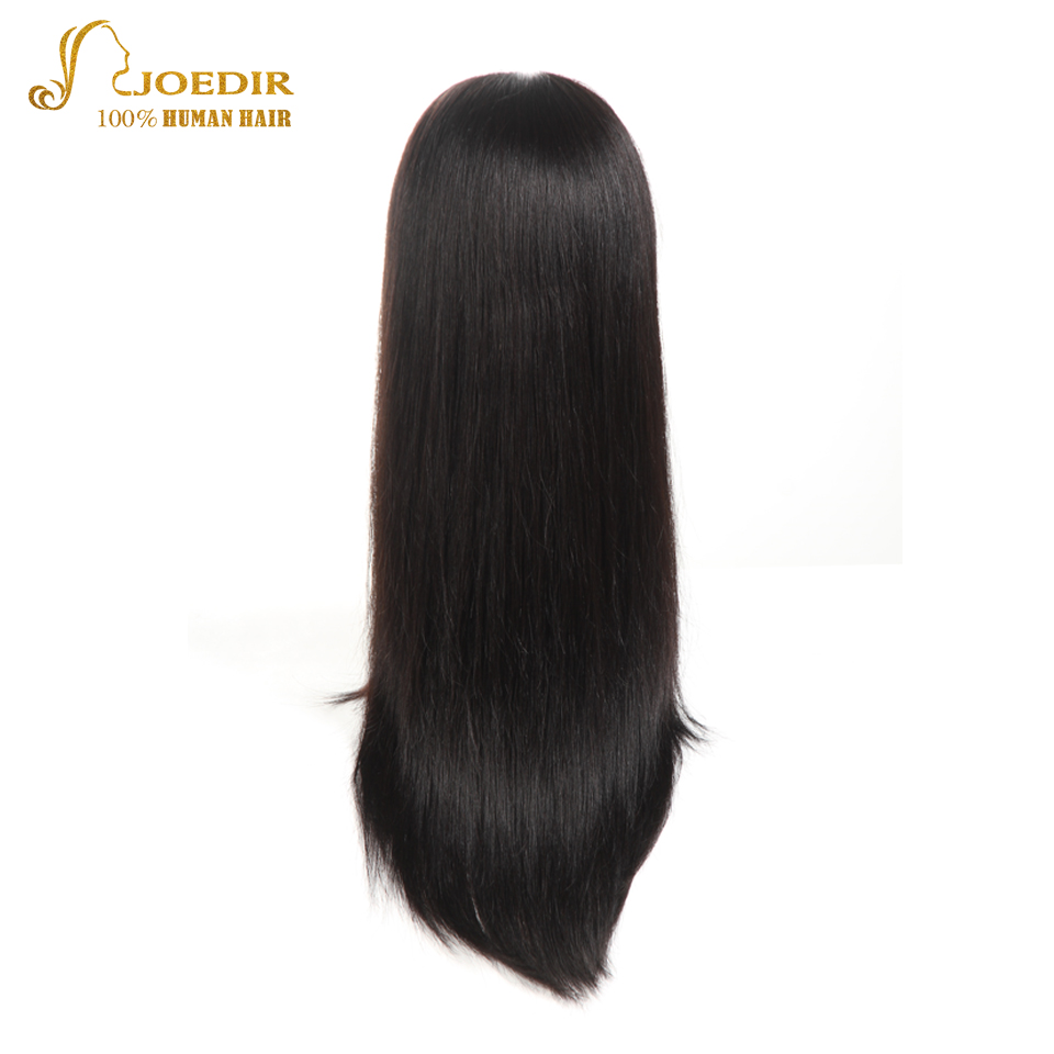 JOEDIR Hair Full Lace Long Bob Wig Free Part Lace Front Human Hair Wigs Natural Hairline With Baby Hair Black Wig For Women