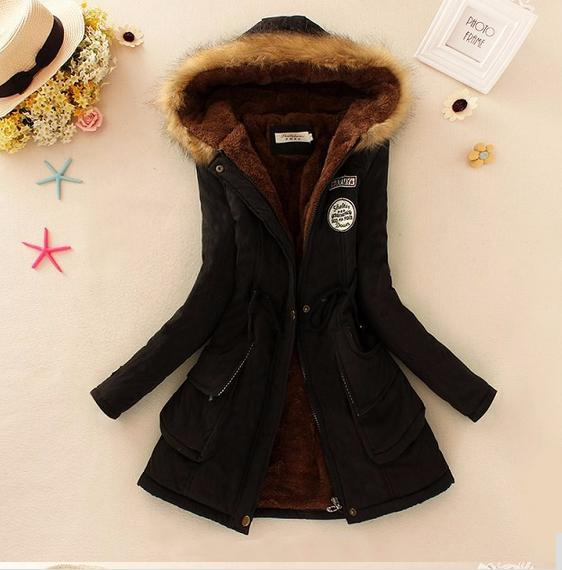 Basic     jackets   coat Winter   Jacket   Women winter coats women outerwear free shipping coat hooded Women's Clothing   JACKETS   986