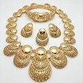 2016 de La Moda de Dubai Oro Pated Joyería Conjunto de Alta Calidad de la Boda de Nigeria Perlas Africanas Joyería Conjunto