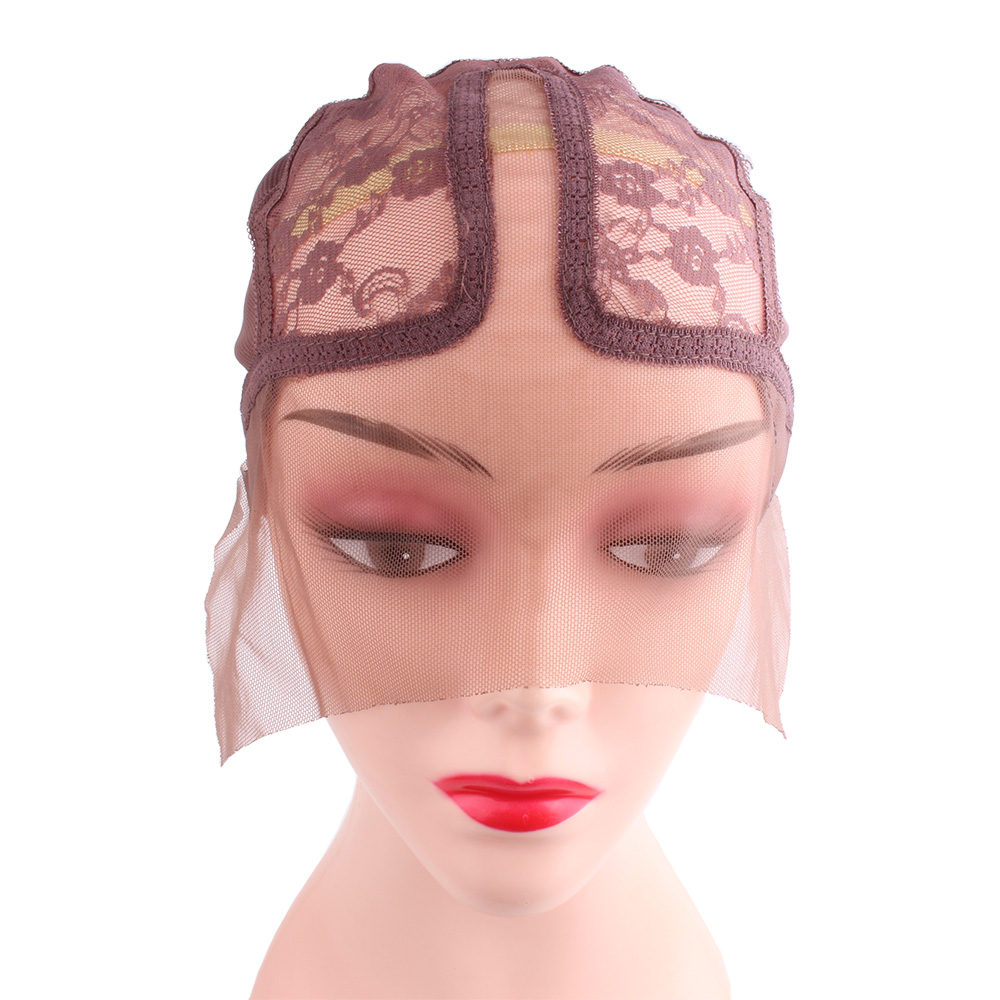 1pcs/bag Wig Caps For Making Wigs Full Lace Wig Weaving Cap Mesh Base Machine Made Stretchy Net Medium With Adjustable Strap