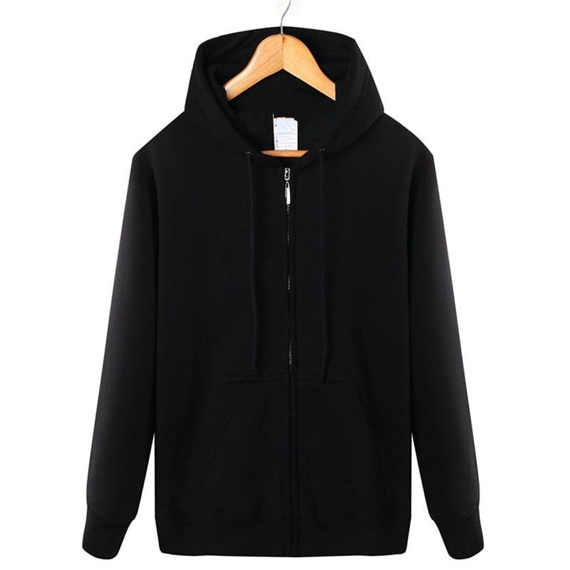 Image 2 - Winter 2019 cotton  zipper hoodie street hip hop red black powder zipper hoodie hoodies   S 4XL-in Hoodies & Sweatshirts from Men's Clothing