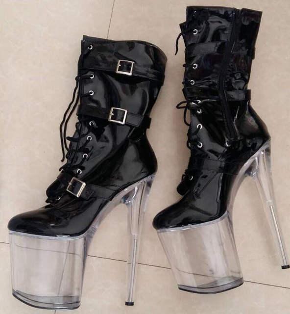 6ca3006b60b7 Online Shop LAIJIANJINXIA high heel 20cm heel sexy fetish ankle boots women  shoes appr.8