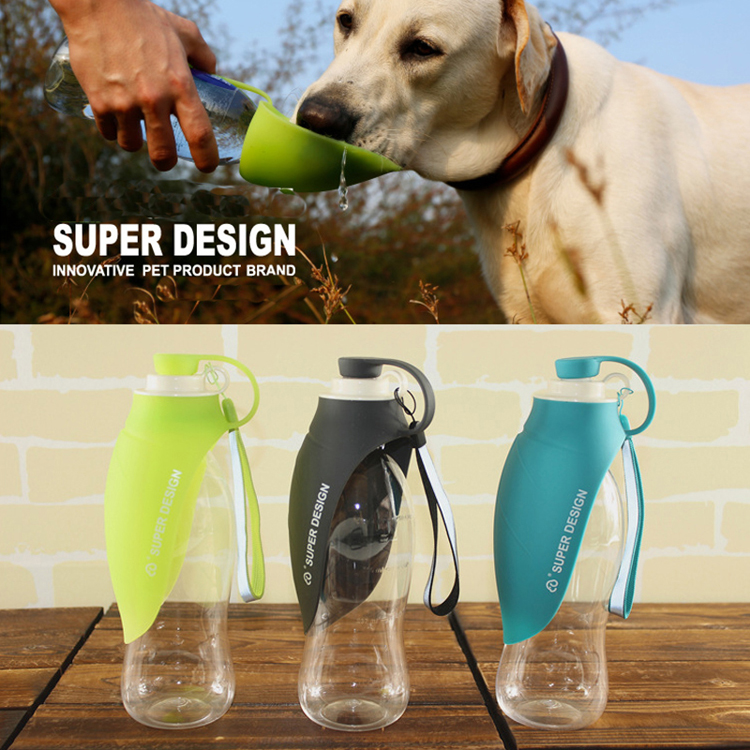 Sudui 650Ml Sport Portable Pet Dog Water Bottle Expandable Silicone Travel Dispenser Pet Cat Dog Bowl Feeder Tray For Drinking  (7)