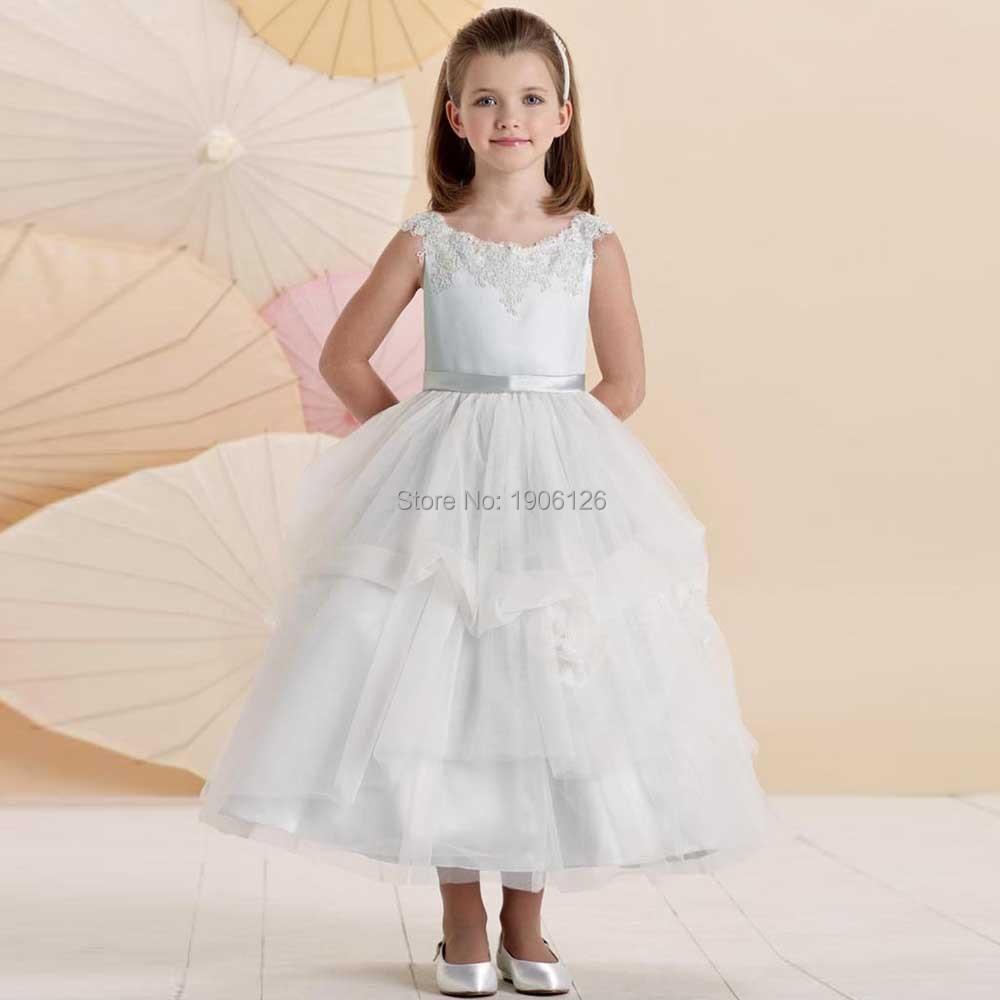 White Graduation Dresses Kids