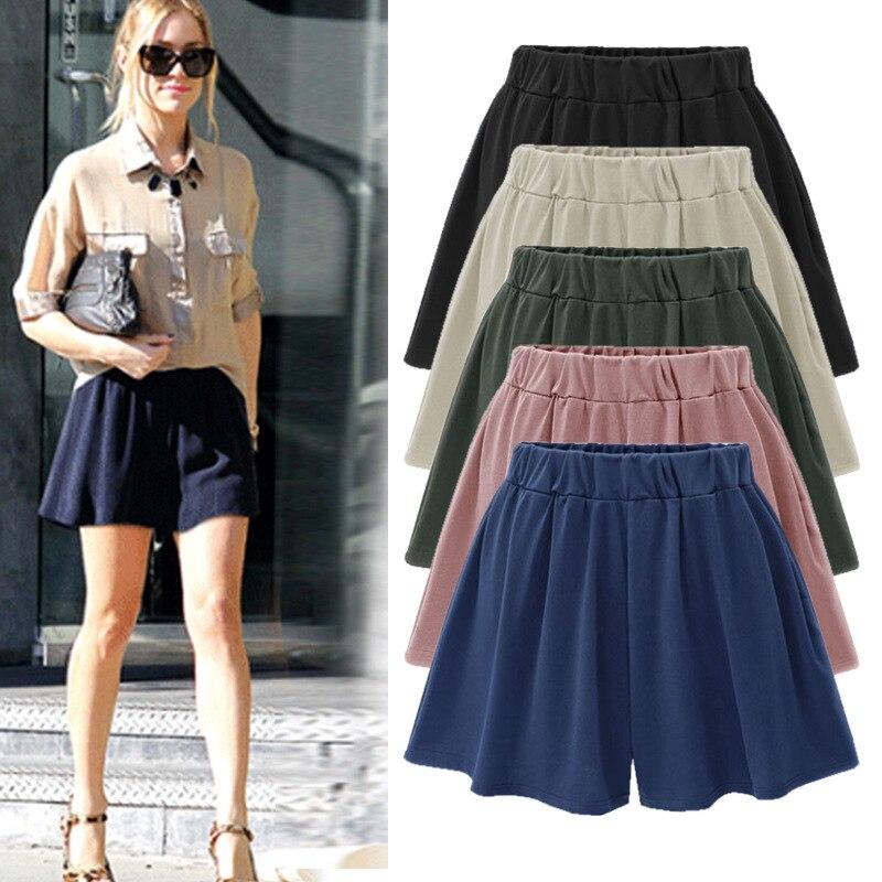 Shorts   Skirts women Casual High Waist plus size Loose summer Skirt   Short   Femme 5XL 6XL