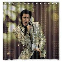 Elvis Presley Polyester Waterproof Shower Curtain 12pc Hooks Mildew Resistant Bath Home Bathroom Decor