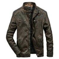 High Quality Faux Leather Jacket Men Vintage Autumn Winter New Motorcycle Jacket Men Business Casual Mens Biker Jacket Coat
