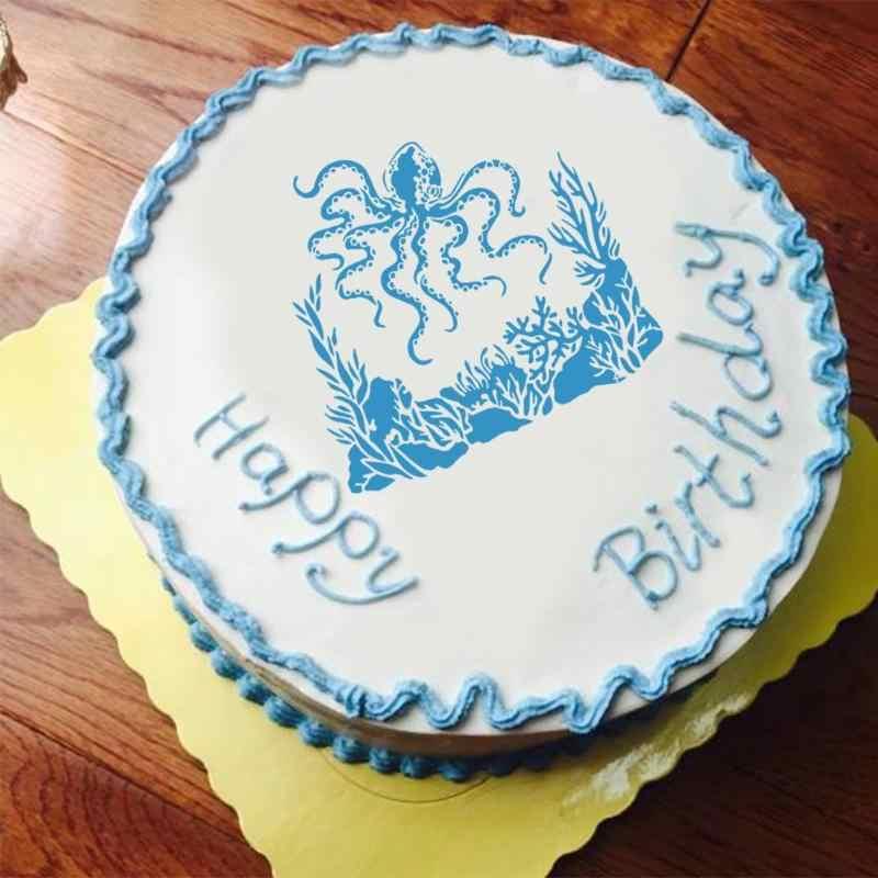 جديد البلاستيك كعكة DIY بها بنفسك زهرة نمط قالب Stencil الدانتيل وسادة رذاذ زهرة ل طلاء جدران كب كيك الديكور الخبز أداة قوالب