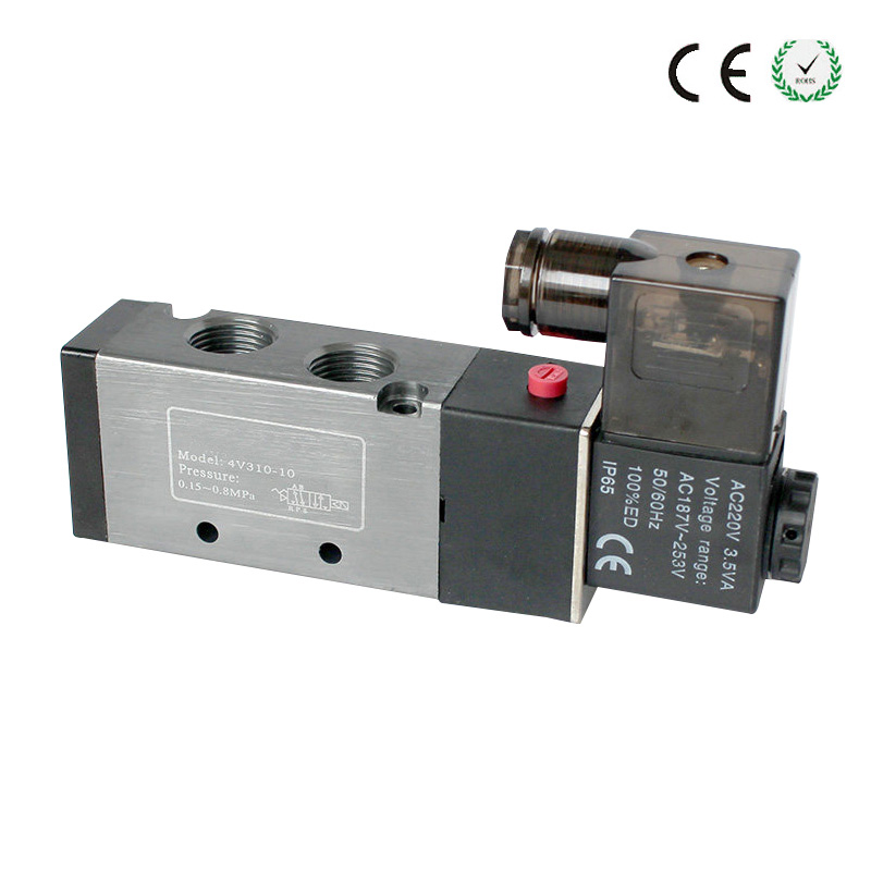 24VDC 4V210-08 3PCS 2/5 way Pneumatic solenoid valve 1/4  Pneumatic parts ,air control valve, 5 way pilot solenoid valve sy3420 5d 03
