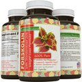 100% Pure Forskolin Extract 60 Capsules (Best Coleus Forskohlii) - Highest Grade Weight Loss Supplement for Women & Men