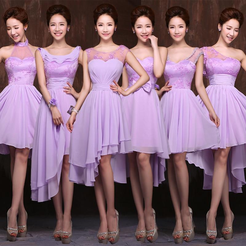 Hermana de la novia vestidos 2016 de color champán púrpura del ...