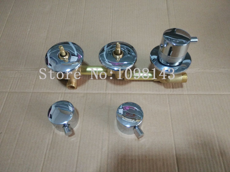 3 Ways Thermostatic shower mixing valve Bathroom shower faucet thermostatic mixer temperature control Brass thermostatic mixer