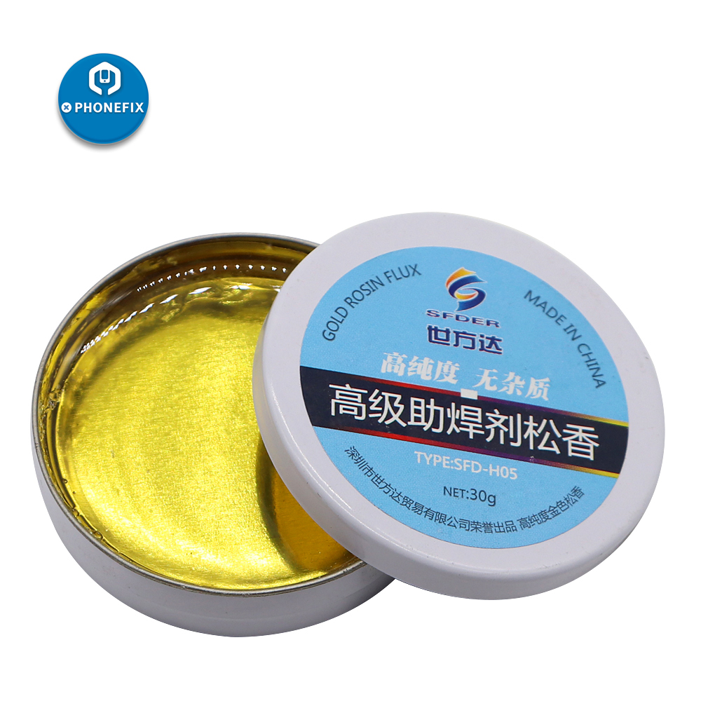 30g Metal Box Rosin For Electric Soldering Iron Soft Solder Welding Fluxes Scaling Powder No Impurity Welded Solder Paste Flux