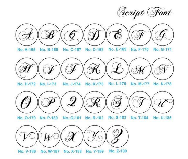 Estremamente Online Shop Timbro Sigillo di cera Lettera script font AZ Sigillo  QF42