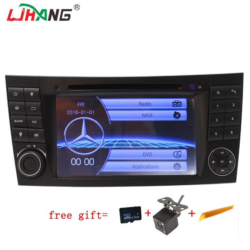LJHANG 2 Din Car DVD player For Mercedes E-Class W211 W219 E200 E220 E240 E270 E280 E300 E320 E350 E400 E500 GPS Navigation RDS