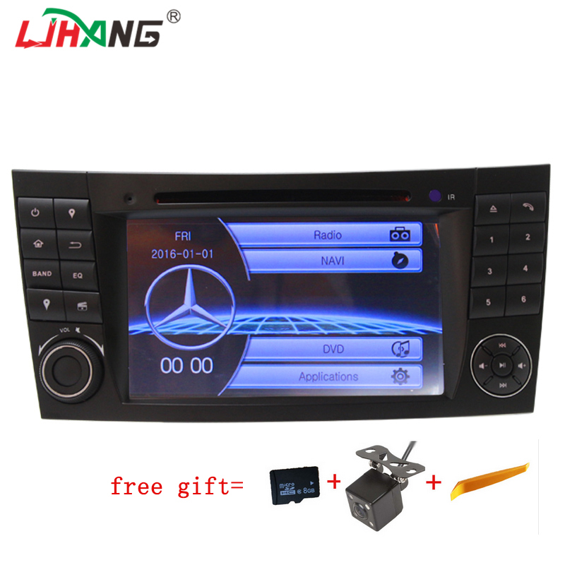 цена LJHANG 2 din car dvd player For Mercedes E CLS CLK Class W211 W219 E200 E220 E240 E270 E280 E320 E350 E400 E500 GPS Navigation