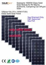 Solarparts 10x font b 100W b font monocrystalline font b solar b font module high efficiency